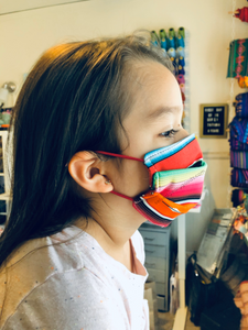 Kids Face Mask, Red Serape