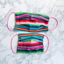 Adult Fuchsia Pink Serape Face Mask