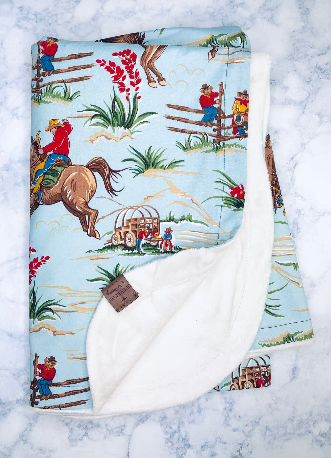 Cowboy Baby Blanket 8/17 Delivery