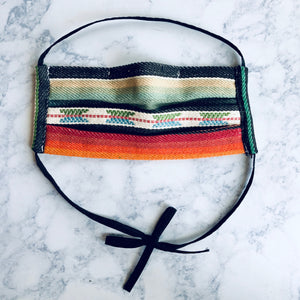 Black Serape Surgical Mask with nose clip, Adult Face Mask