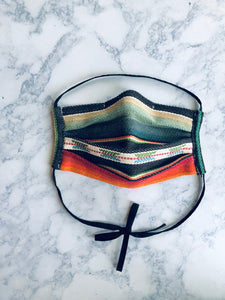 3 Pack Serape Surgical Mask with nose clip, Adult Face Mask Bundle