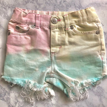 Kid Tie Dye Shorts, Unicorn Dip Dye