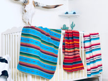 Red Serape Baby Blanket