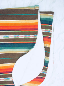 Brown Serape Baby Blanket