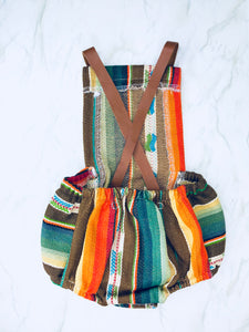 Brown Serape Baby Romper