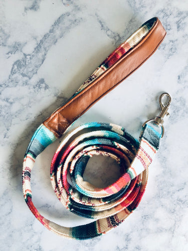 Pet Leash - White Serape