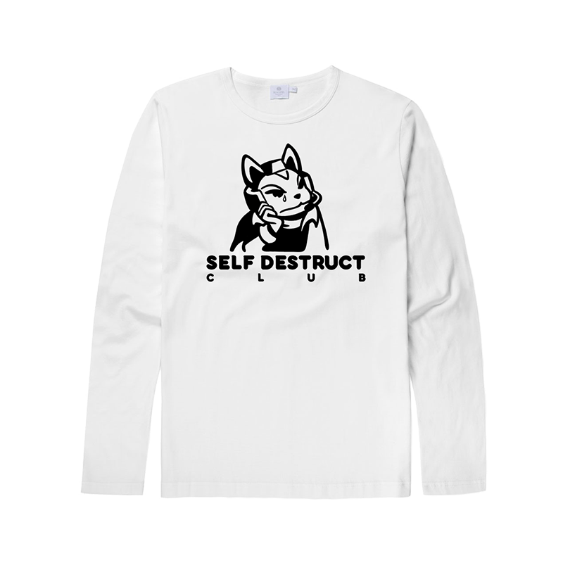 'Self-Destruct Club' Long-sleeve Tee (RESTOCK)