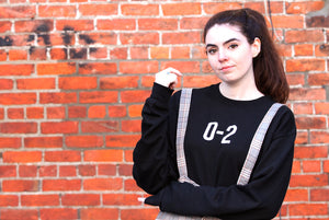 """THE 0-2: SWEATER"" - BLACK (restocked)"