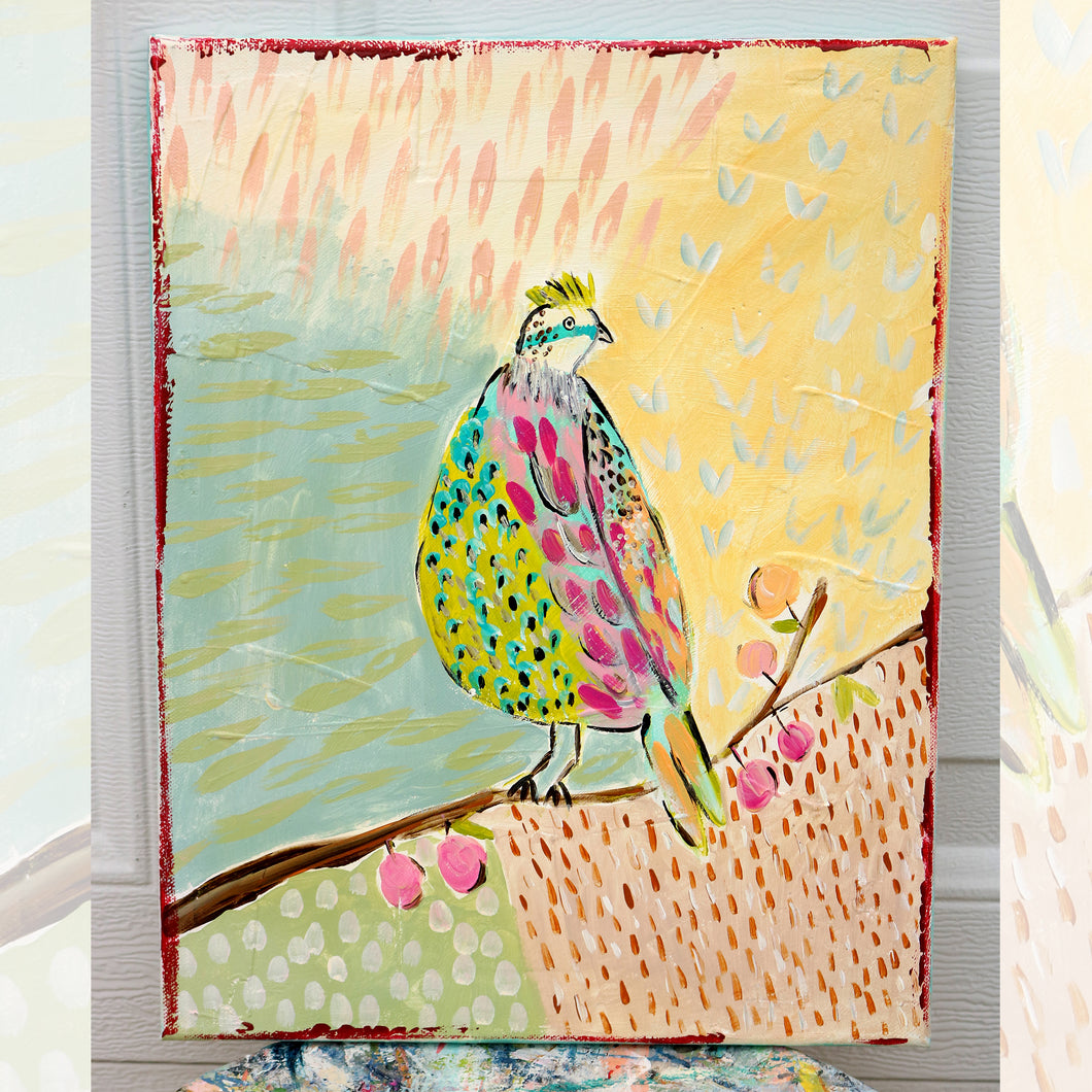 Bird On Branch 11 x 14