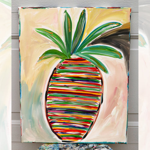 Striped Pineapple  16 x 20