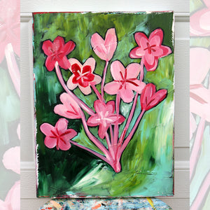 Bouquet-pink and green  12 x 16