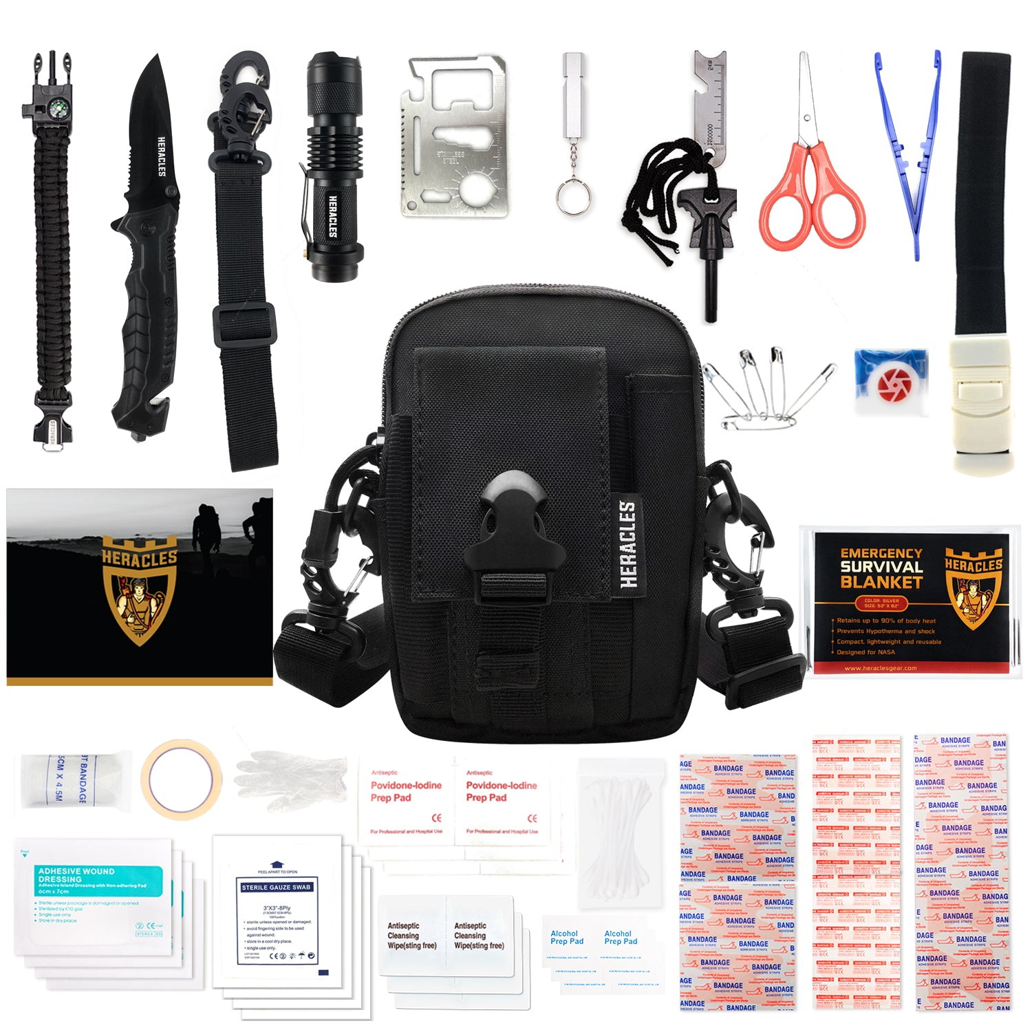 Outdoor Medical Camping Hiking Emergency Kits Survival Pack Rescue Pouch Bag