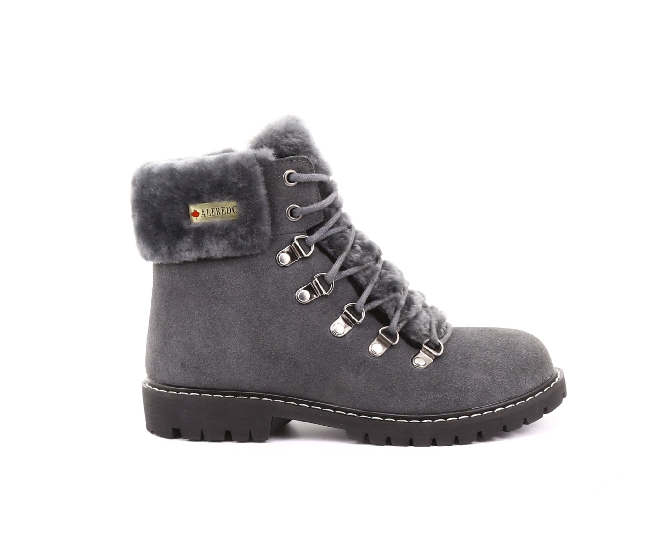 Aisha Women's Winter Boot in Suede with Retractable Cleats - Alfred Cloutier Ltd. - Canada