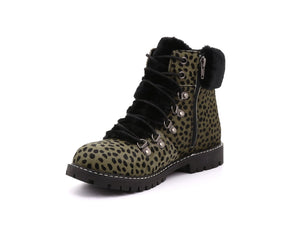 Aisha Women's Winter Boot in Leopard with Retractable Cleats - Alfred Cloutier Ltd. - Canada
