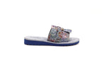ALFRED C.® Amelia 6A24 Women's Sandals in Light Blue Suede with EVA Soles - Alfred Cloutier Ltd. - Canada