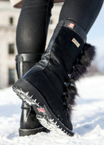 Bella Grande Women's Winter Boot with Faux Fur and Retractable Cleats - Alfred Cloutier Ltd. - Canada