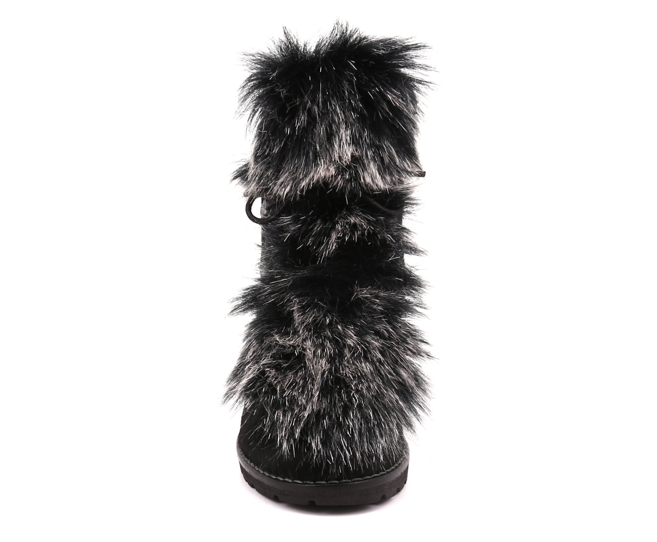 Charlotte Women's Winter Boot in Hairy Leather with Faux Fur - Alfred Cloutier Ltd. - Canada