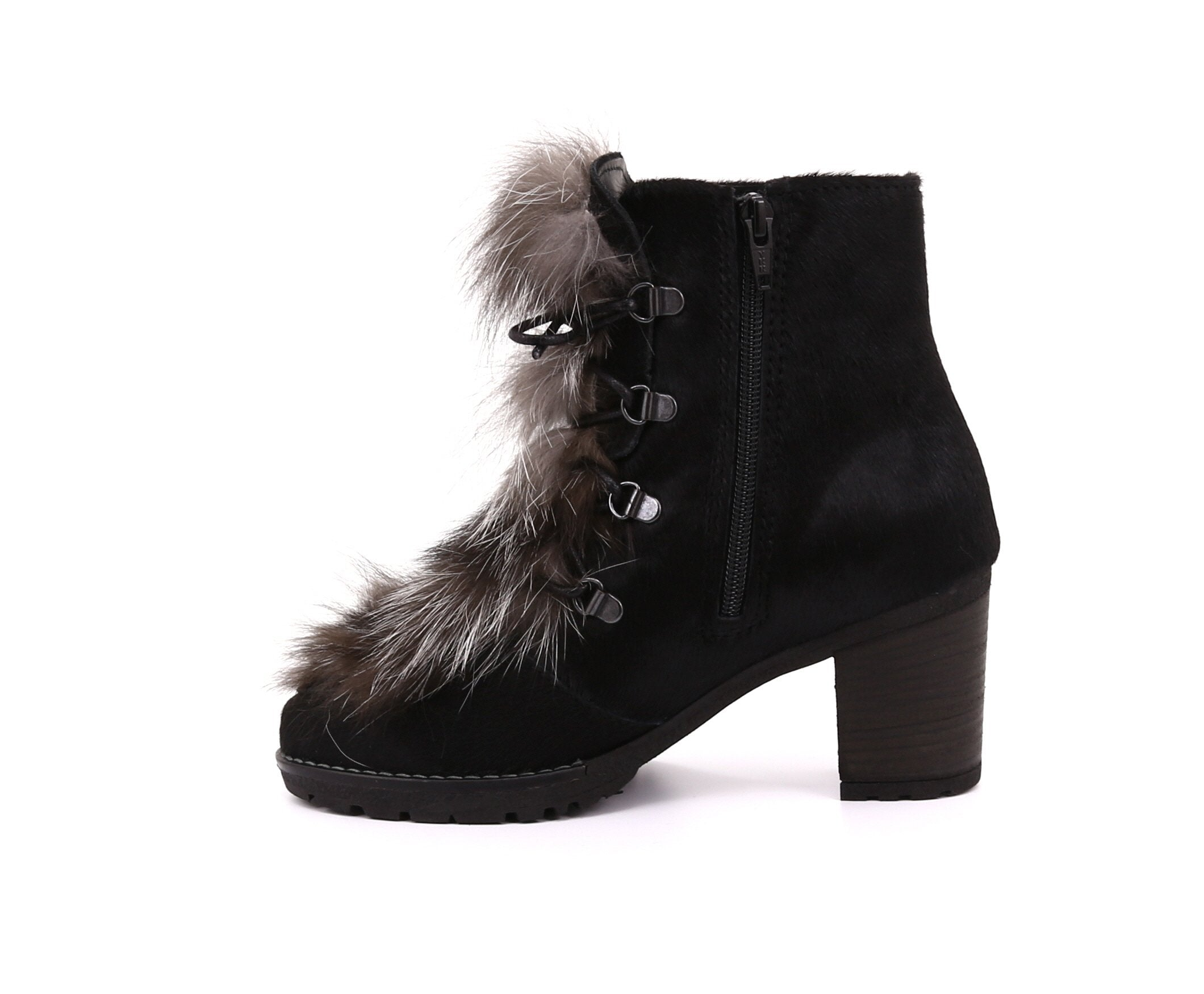 Charlotte Women's Winter Boot in Hairy Leather with Recycled Fur - Alfred Cloutier Ltd. - Canada