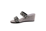 Eliana Women's Wedge Sandals in Leather with EVA Soles - Alfred Cloutier Ltd. - Canada