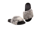 ALFRED C.® Erica 6A17 Women's Sandals in Rabbit Fur with EVA Soles - Alfred Cloutier Ltd. - Canada