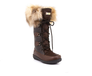 Luna Women's Winter Boot in Hairy Leather and Recycled Fur - Alfred Cloutier Ltd. - Canada