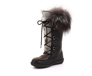 Luna Women's Winter Boot in Sealskin and Recycled Fur - Alfred Cloutier Ltd. - Canada