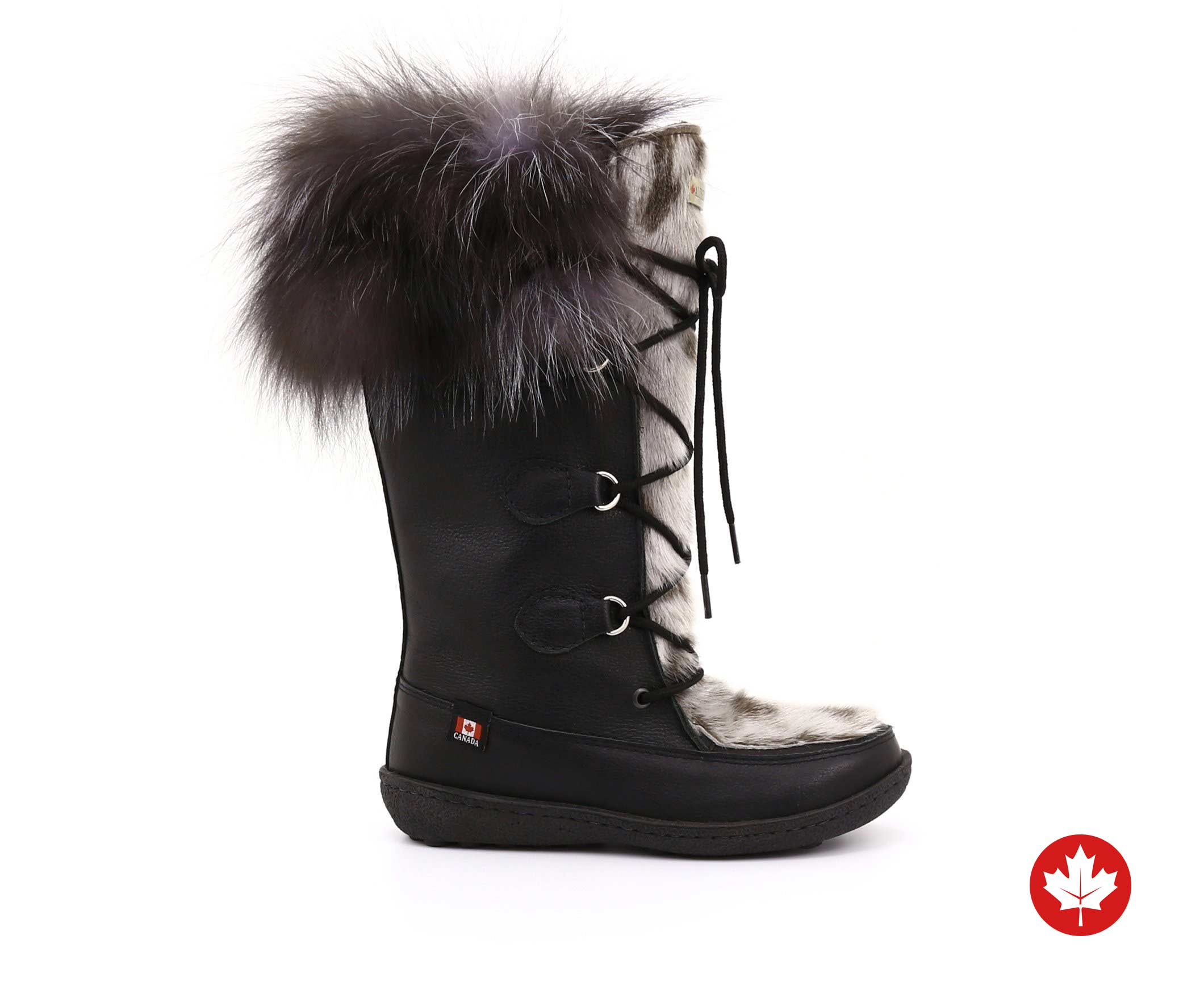 Luna Women's Winter Boot in Sealskin and Recycled Fur