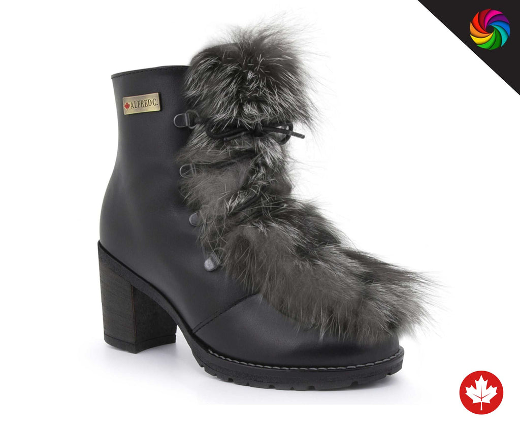 CUSTOM ALFRED C.® Charlotte Women's Winter Boot with Hairy Tongue