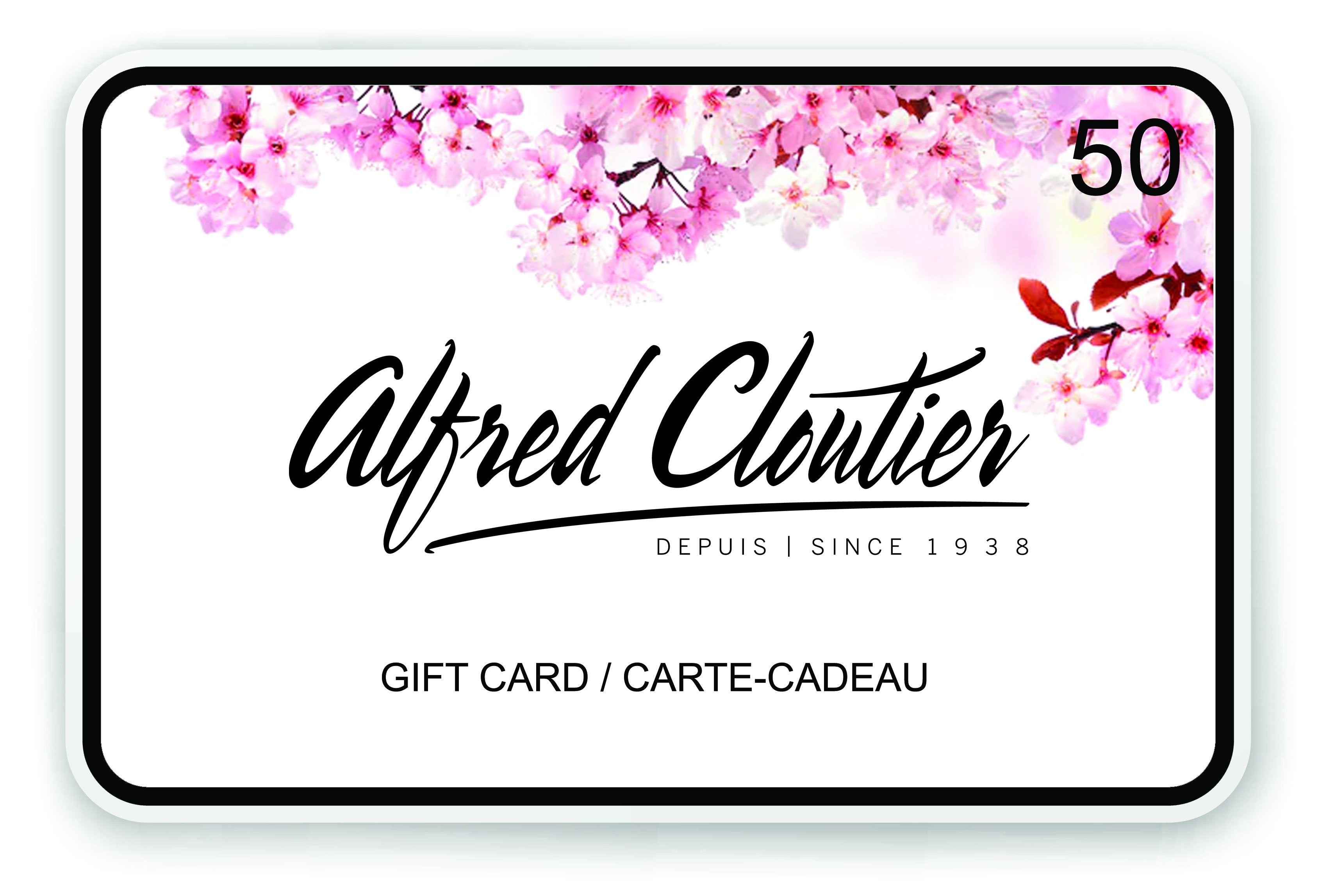 Gift Card - Alfred Cloutier Ltd. - Canada
