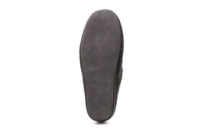 Austin Men's Slippers in Snake Print Microsuede with Suede Sole - Alfred Cloutier Ltd. - Canada