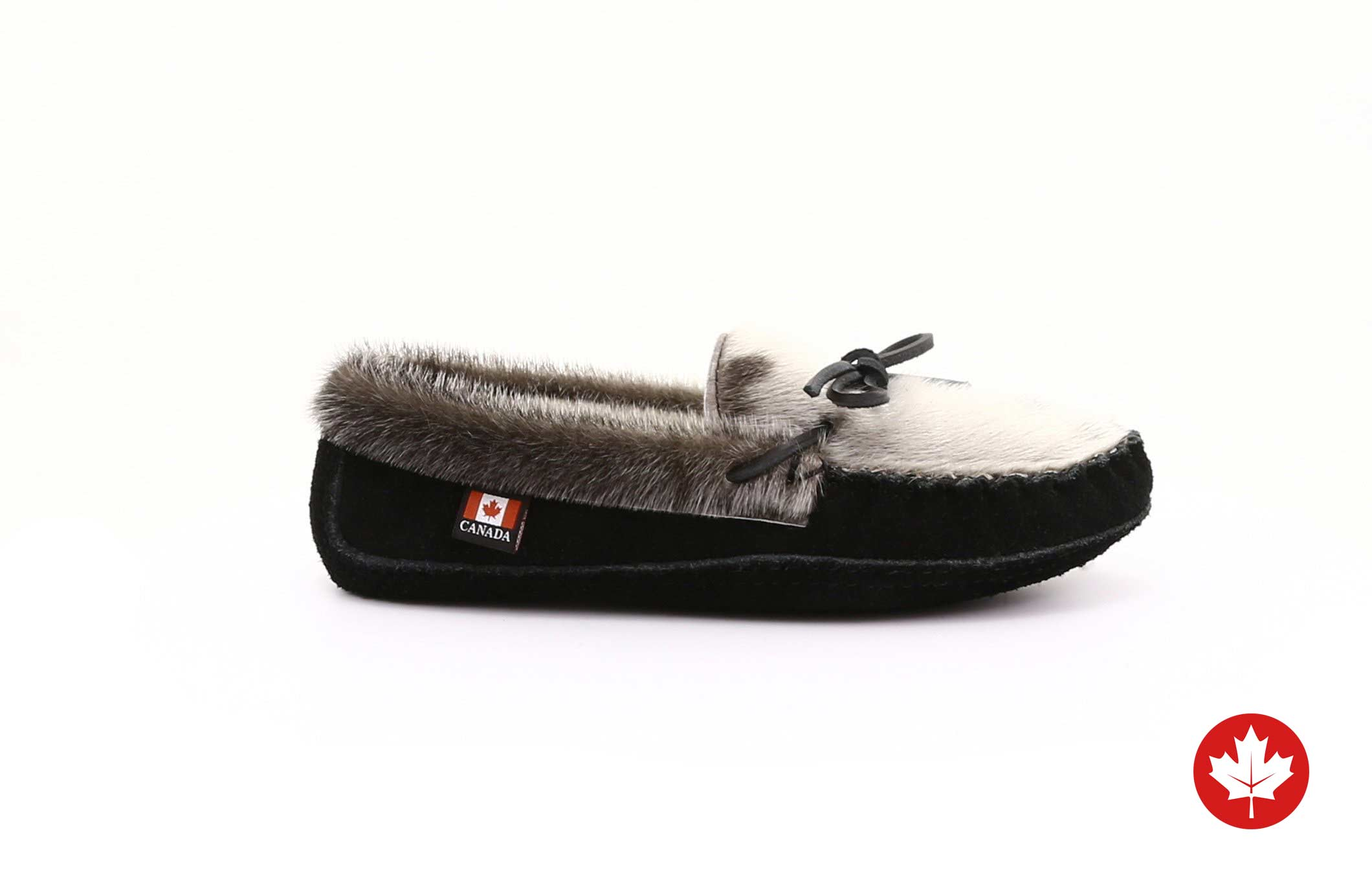 Aurora Women's Sealskin Slippers with Suede Sole