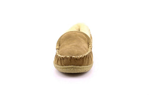 Champlain Men's Sheepskin Moccasin Slippers with Thermoplastic Rubber Sole - Alfred Cloutier Ltd. - Canada