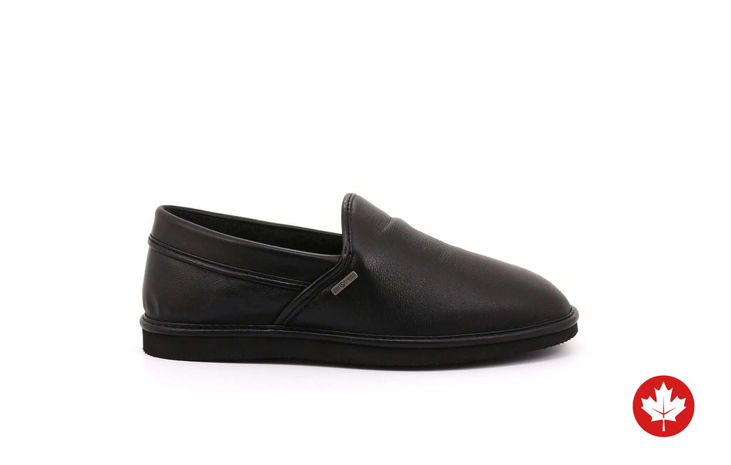 Cody Men's Slippers in Leather with EVA Sole