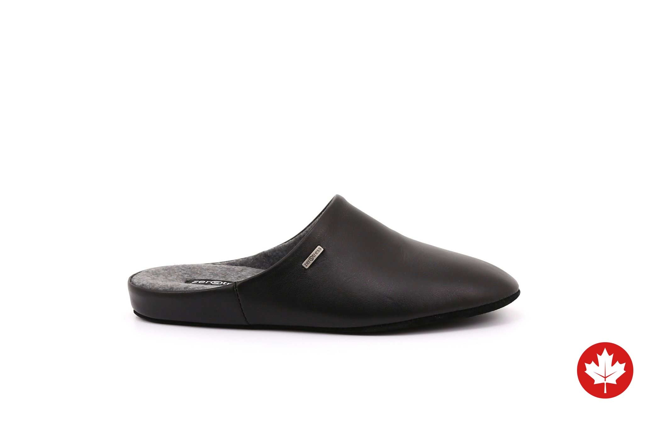 Jasper Men's Leather Slippers with Suede Sole