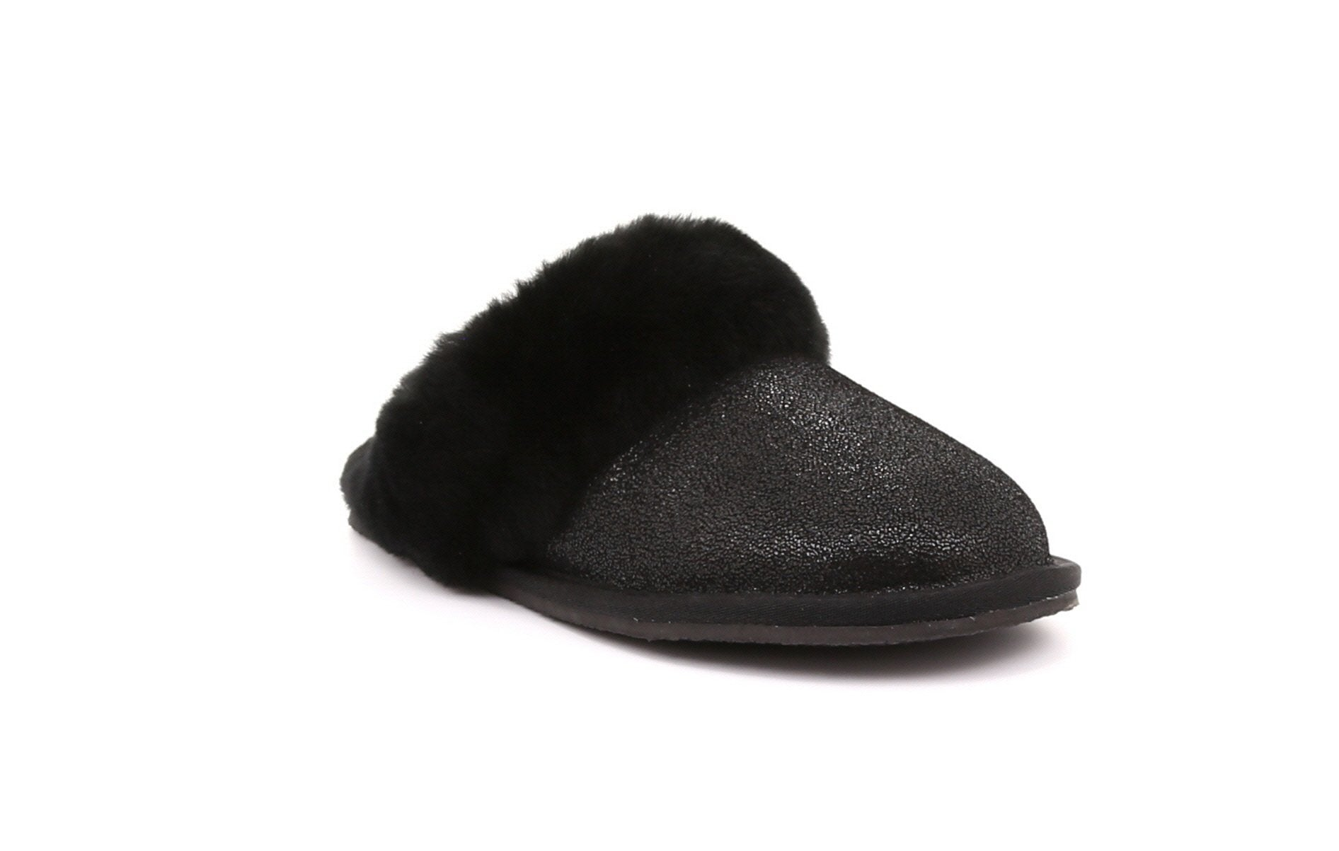 Tanya Women's Shearling Slippers with Thermoplastic Ruber Sole - Alfred Cloutier Ltd. - Canada