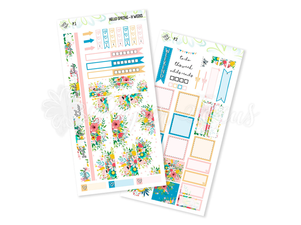Hello Spring Weekly Kit - For Hobonichi Weeks