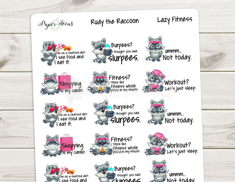 Rudy - Lazy Fitness - Paper Focus Co.