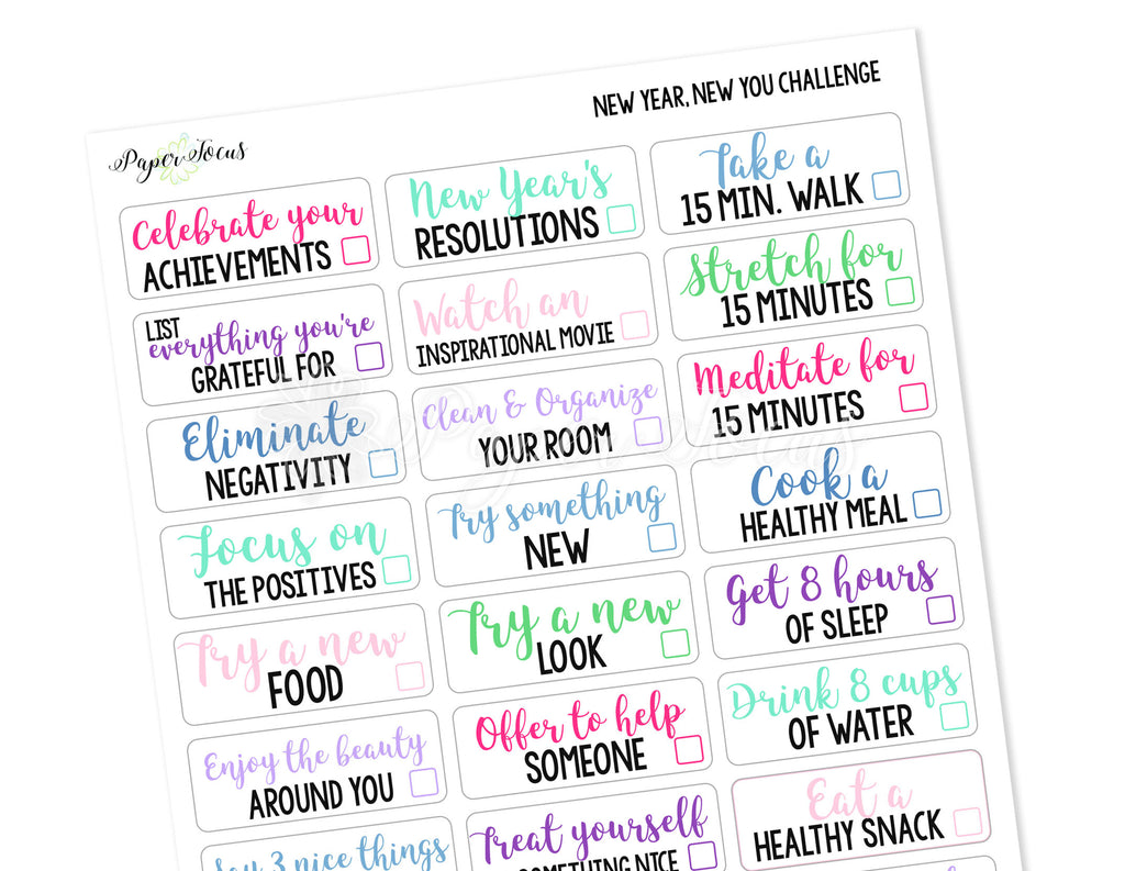 New Year, New You 30-Day Challenge - Paper Focus Co.