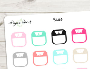 Weight Scale - Multicolor - Planner Stickers - Paper Focus Co.