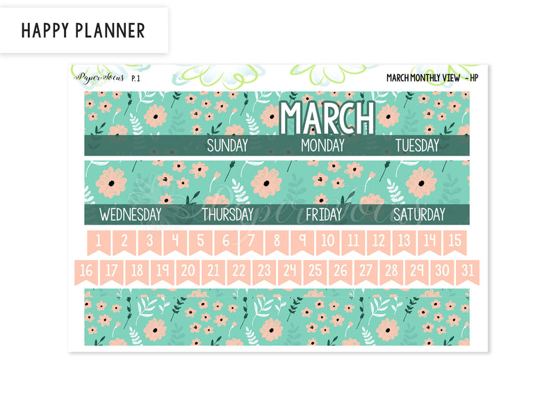 March Monthly View Kit - Basics