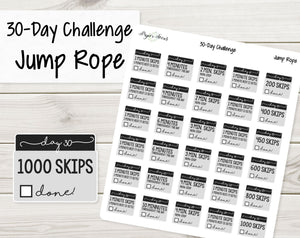 30-Day Challenge Stickers - Jump Rope - Paper Focus Co.