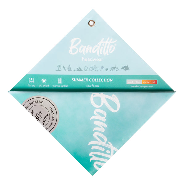 banditto headwear head accessory multifunctional bandana sports mint green blue sea foam turqoaise  upf uv protection surf mountain trekking running beach