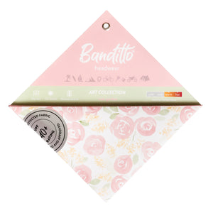 banditto headwear head accessory multifunctional bandana sports rose garden roses blushing pink upf uv protection surf mountain trekking running beach