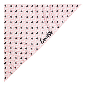 banditto headwear head accessory multifunctional bandana sports black pink hearts white graphite upf uv protection surf mountain trekking running beach
