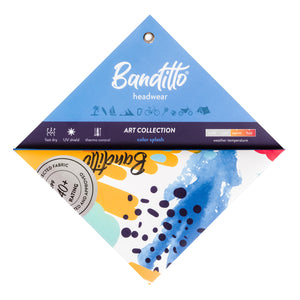 banditto headwear head accessory multifunctional bandana sports blue yellow art colorful upf uv protection surf mountain trekking running beach
