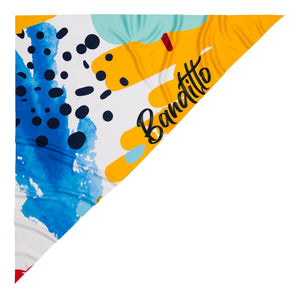 banditto headwear head accessory multifunctional bandana sports blue yellow art colorful upf uv protection surf mountain trekking running beac