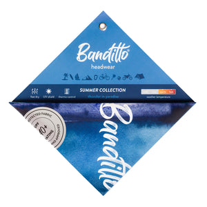 banditto headwear head accessory multifunctional bandana sports blue ocean dark thunder in paradise white upf uv protection surf mountain trekking running beach