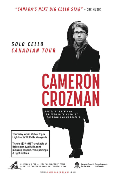 Cello & Chardonnay - Concert with Cameron Crozman