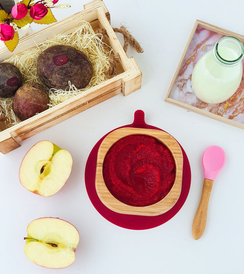 Apple and beetroot baby puree