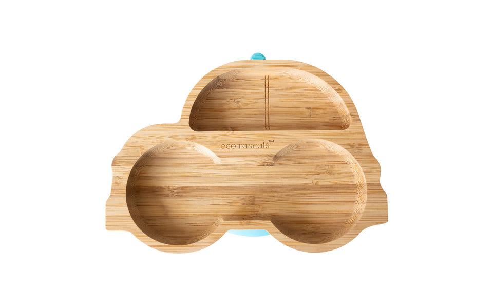 Bamboo car plate with super suction base from Eco rascals